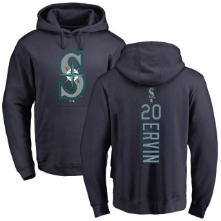 Men's Phillip Ervin Seattle Mariners Navy Backer Pullover Hoodie